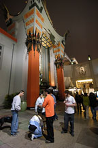 Tourists at Grauman's Chinese Theatre (Mann's Chinese Theatre). Hollywood, Los Angeles, California, USA. - Photo #3367