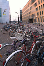 Bicycles outside Kiasma. Helsinki, Finland. - Photo #368