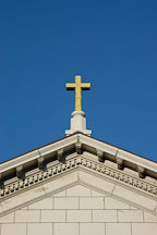 Golden cross on top of St. Joseph's Cathedral (Cathedral Basilica of St. Joseph). San Jose, California, USA. - Photo #4868