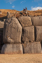 Huge stone blocks forming a wall. Sacsayhuaman. Peru. - Photo #9568