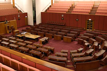 Senate chamber in the Parliament House. Canberra, Australia. - Photo #1468