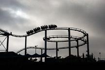 Rollercoaster at Santa Monica Pier. Santa Monica, California, USA. - Photo #7068