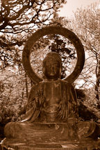 Statue of Buddha. Japanese Tea Garden. Golden Gate Park, San Francisco, California, USA. - Photo #3468