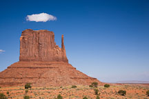 Cloud over West Mitten. Monument Valley, Arizona. - Photo #18769