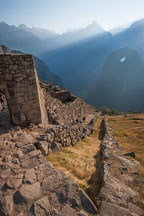 Dry moat. Machu Picchu, Peru. - Photo #9969