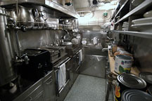Galley (kitchen). USS COD SS-224 World War II Fleet Submarine. Cleveland, Ohio, USA. - Photo #4169