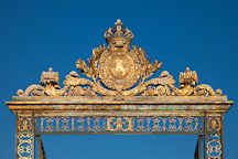 Ornate gate at the Palace of Versailles. Versailles, France. - Photo #31707