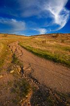 Trail erosion. Russian Ridge Open Space Preserve. California. - Photo #3407
