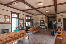 Interior of the Mount Pleasant Amtrak Station. - Photo #32970
