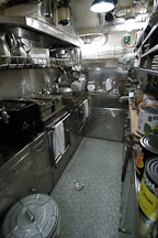 Galley (kitchen). USS COD SS-224 World War II Fleet Submarine. Cleveland, Ohio, USA. - Photo #4170