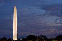 Washington Monument at dusk. Washington, D.C., USA. - Photo #11070