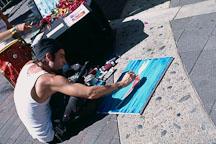 Street Artists, Avalon, Catalina Island, California. - Photo #571