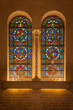 Stained glass in Gold Star Hall. Memorial Union, Iowa State University - Photo #33171