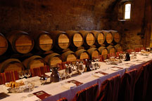 Wine tasting table. Napa Valley, California, USA. - Photo #4571
