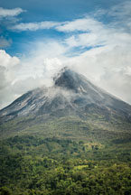 Arenal Volcano covered by clouds. Costa Rica - Photo #14172
