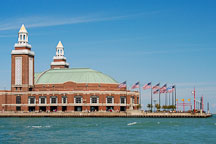 Grand ballroom at the Navy Pier as seen from the lake. Chicago, Illinois, USA. - Photo #10772