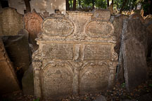 Gravestone in the Old Jewish Cemetery. Prague, Czech Republic. - Photo #29572