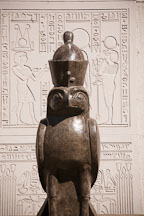 Horus falcon statue at Rosicrucian park. San Jose, California. - Photo #21972