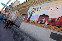 Mural in Chinatown. San Francisco, California, USA. - Photo #12572