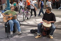 Musicians. Third street promenade, Santa Monica, California, USA. - Photo #6972