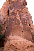 Petroglyphs carved into rock wall. Canyon de Chelly NM, Arizona. - Photo #18072