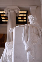 Side view of Abraham Lincoln. Lincoln Memorial, Washington D.C., USA. - Photo #12672