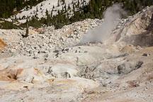 Steam rising from fumarole at Bumpass Hell. Lassen NP, California. - Photo #27072