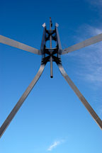Steel flagpole at Parliament House. Canberra, Australia. - Photo #1472