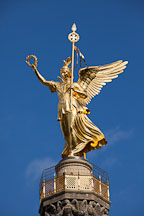 Statue of Victoria atop Siegessaule. Berlin, Germany - Photo #30573