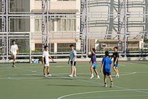 Boys playing soccer in Kowloon Park. Hong Kong, China. - Photo #14774