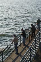 Fishing from Santa Monica pier. Santa Monica, California, USA. - Photo #8274