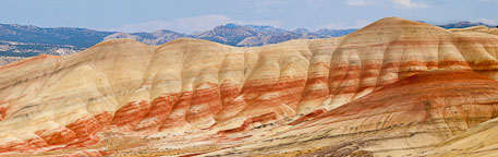Painted hills panorama. John Day Fossil Beds, Oregon. - Photo #27874