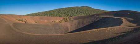 Panorama of Cinder Cone. Lassen NP, California. - Photo #27174