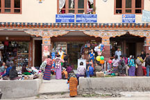 People crowded on Norzin Lam street buying and selling merchandise. Thimphu, Bhutan. - Photo #22374