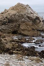 Rocky shoreline. 17-Mile drive, California, USA. - Photo #4774