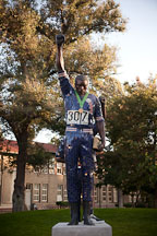 Statue of Tommie Smith at San Jose State University. - Photo #22174