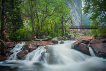 Bridge above the rushing waters of Eldorado Canyon State Park. - Photo #33175
