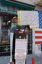 Protestor. Chinatown, San Francisco, California. - Photo #1975