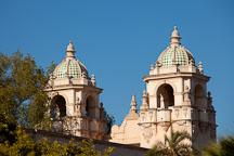 Twin domes of the Casa del Prado. Balboa Park, San Diego. - Photo #25875