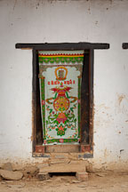 Doorway at Gangte Goemba. Phobjikha Valley, Bhutan. - Photo #23776