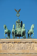 Quadriga, the goddess of victory driving a four horse chariot. Brandenburg Gate, Berlin, Germany. - Photo #30476