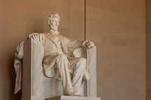 Sculpture of Lincoln by Daniel Chester French. Lincoln Memorial, Washington, D.C. - Photo #29076