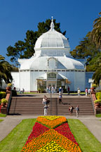 Flower beds in front of the Conservatory of Flowers. Golden Gate Park, San Francisco. - Photo #26877