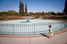 Girl running at the Municipal Rose Garden. San Jose, California. - Photo #21977