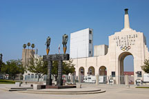 Los Angeles Memorial Coliseum and Olympic Gateway by Robert Graham. Los Angeles, California, USA. - Photo #6777