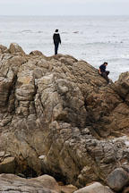 Walking along the rocky shoreline. 17-Mile drive, California, USA. - Photo #4777
