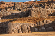 The stone walls at Sacsayhuaman may have been used as a fortress. - Photo #9578
