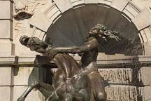 Nymph riding wild sea horse. Neptune Fountain, Library of Congress, Washington, D.C. - Photo #29178