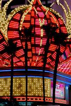 Palm trees and neon lights. Las Vegas, Nevada, USA. - Photo #13378