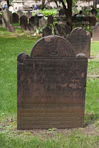 Grave marker from the 18th century at Trinity Church. New York City. - Photo #25379